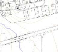 Фрагмент топографической съемки масштаба 1:2000