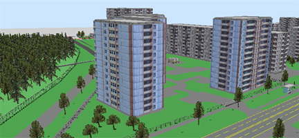 Типовая трехмерная модель города