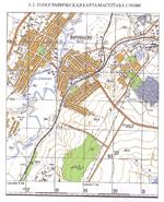 Топографическая карта масштаба 1:50 000
