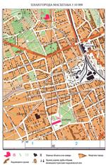Топографическая карта масштаба 1:10 000