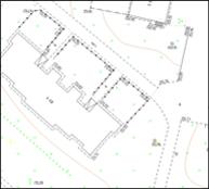 Фрагмент топографической съемки масштаба 1:500